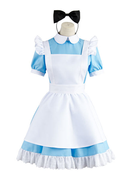 Alice In Wonderland Alice Kleid Cosplay Kostüm