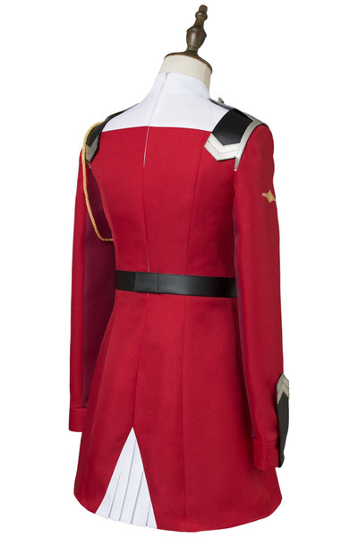 DitF Darling in the Franxx Code 002 Zero Two Uniform Cosplay Kostüm