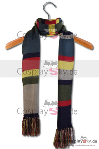 Doctor Who 4th Dr. Tom Baker Schal mit Klunker vom Vierten Doktor 12' × 8.5'' Cosplay