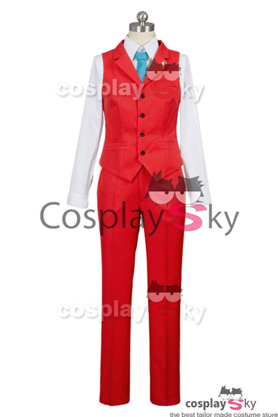 Gyakuten Saiban 4 Apollo Justice: Ace Attorney Polly Red Rechtsanwalt Anzug Cosplay Kostüm