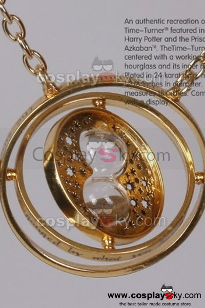 Harry Potter Hermione Granger Time Turner Rotating Hourglass Halskette Pendant Necklace