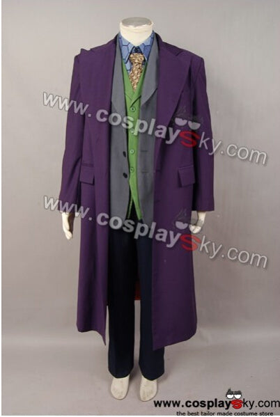 Dark Knight Joker 6 pcs Kostüm Set * Wool trench Hemb Version Cosplay Kostüm