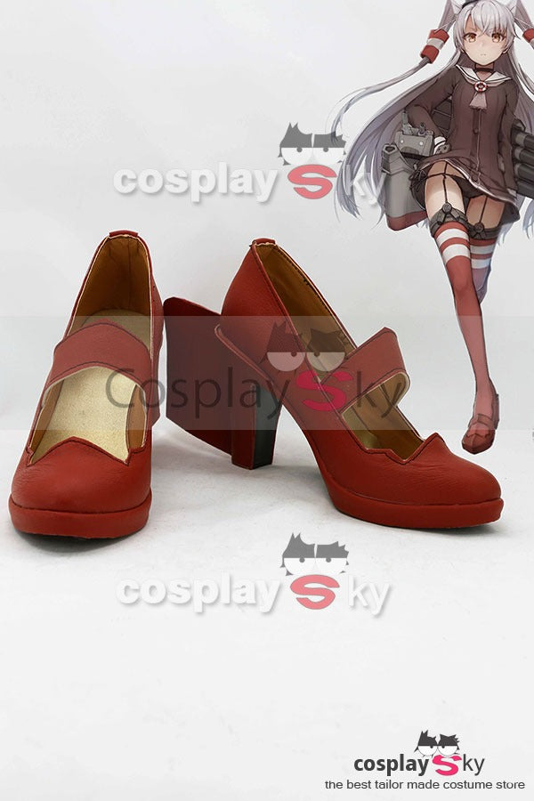 Kantai Collection Japanese Destroyer Amatsukaze Stiefel Cosplay Schuhe