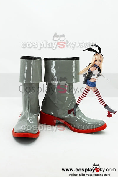Kantai Collection Japanese Destroyer Shimakaze Cosplay Stiefel Schuhe Neu
