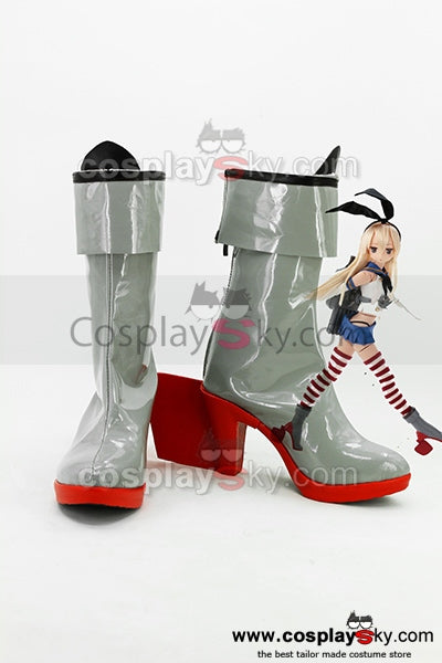 Kantai Collection KanColle Japanese Destroyer Shimakaze Cosplay Stiefel Schuhe