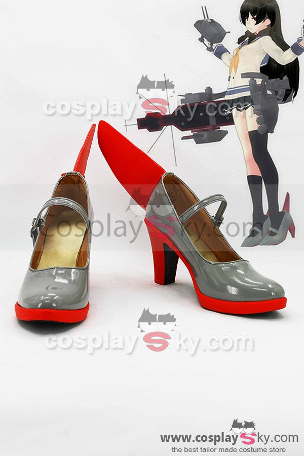 Kantai Collection Japanese Destroyer Isokaze Striefel Cosplay Schuhe