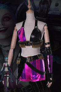 LoL League of Legends Jinx THE LOOSE CANNON Cosplay Kostüm