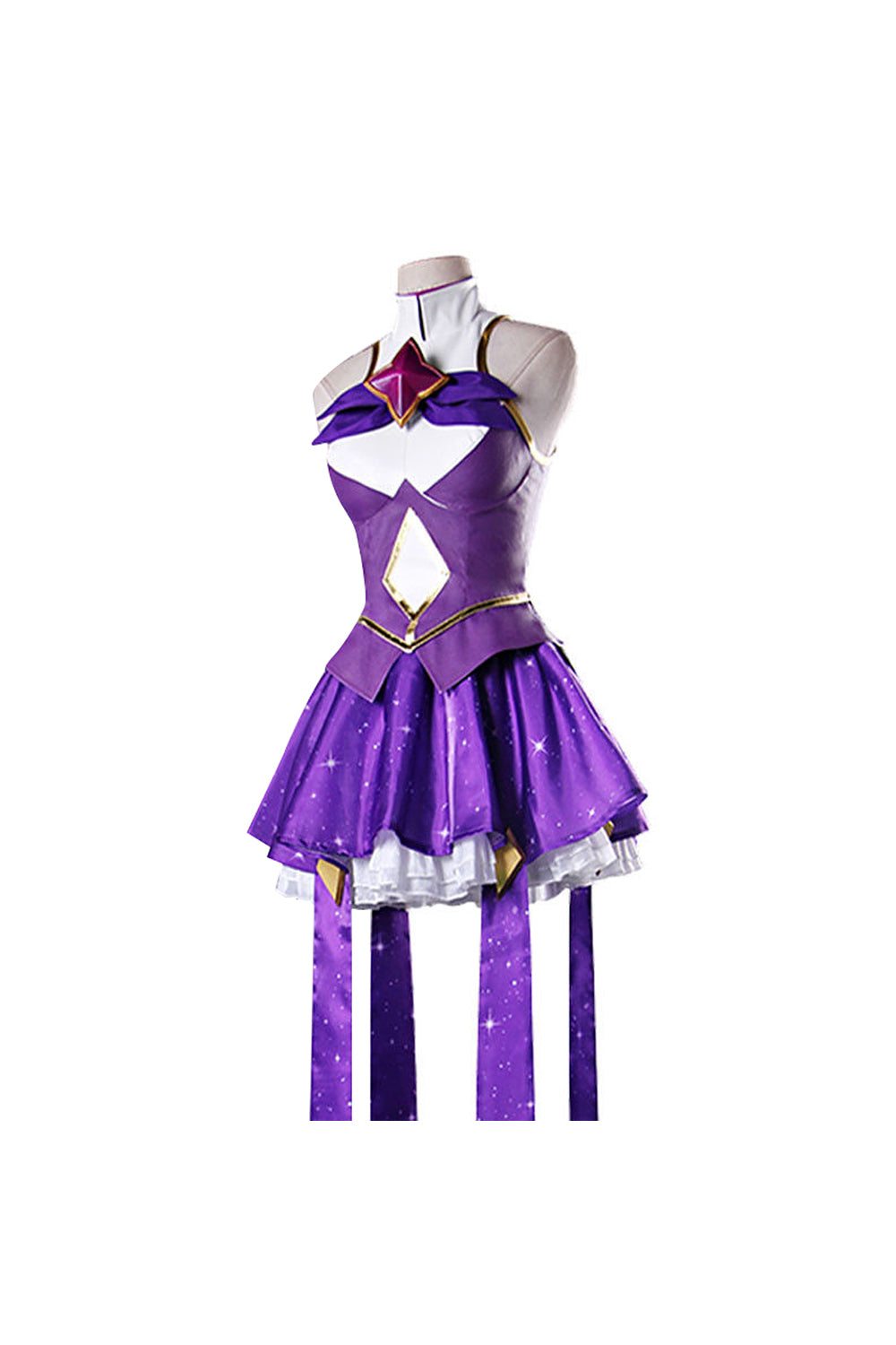 LoL League of Legends Syndra The Dark Sovereign Kleid Cosplay Kostüm