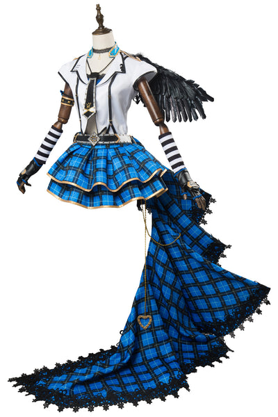 Love Live ! SunShine Aqours Punk Rock Ver. You Watanabe SR 1469 Cosplay Kostüm Blau