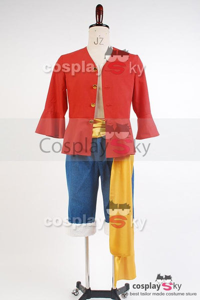 Monkey D Luffy  Straw One Piece Hat Suit Cosplay Kostüm