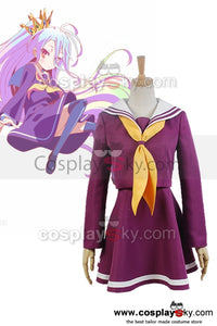 NO GAME NO LIFE Shiro Matrose Anzug Cosplay Uniform Kostüm