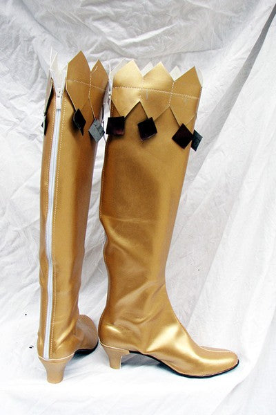 Sailor Moon Cosplay Stiefel Schuhe Golden Gelb