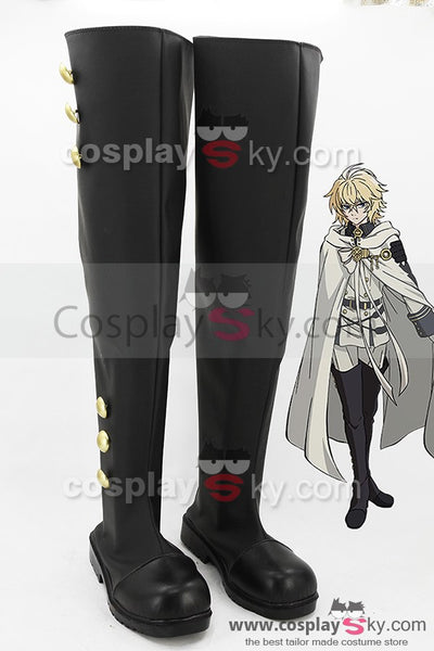 Seraph of the End Vampires Mikaela Hyakuya Cosplay Kostüm + Perücke + Stiefel