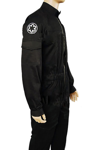 Star Wars Imperial Tie Fighter Pilot Fliegerbekleidung Uniform Jumpsuit Schwarz