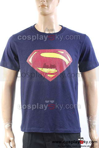 Superman Man of Steel Superman Shield Logo Blue T-Shirt