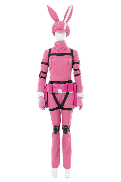 Sword Art Online Alternative - Gun Gale Online LLENN Kämpfanzug Cosplay Kostüm Rosa