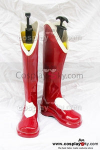 The King Of Fighters Athena Asamiya Cosplay Stiefel Rot