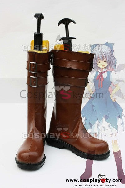 Touhou Project Cirno Cosplay Schuhe Stiefel