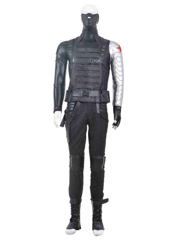 Captain America 2 The Winter Soldier Bucky Barnes Premium Qualität Cosplay Outfit Kostüm