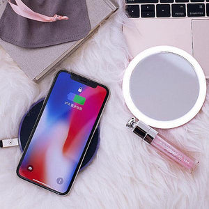 Wireless Charger Portable LED Makeup Mirror