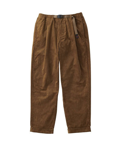 Gramicci Corduroy Tuck Tapered Pants | Camel