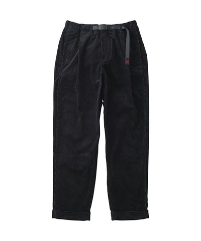 Gramicci Corduroy Tuck Tapered Pants | Black