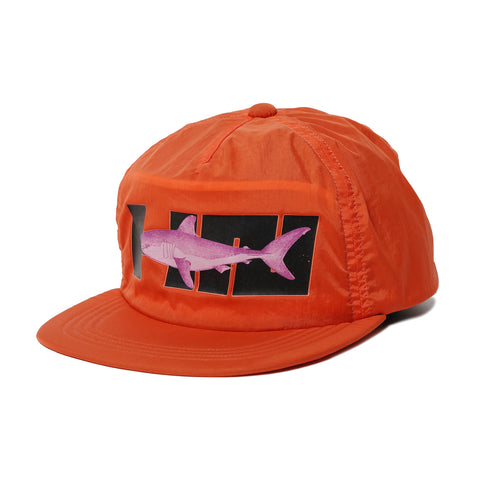 Hombre Nino 5 Panel Shark Cap Orange