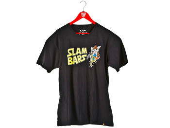 S&M Slam Bar Tee Black