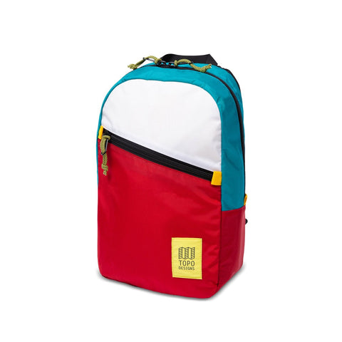 Topo Designs Light Pack White/Turquoise/Red