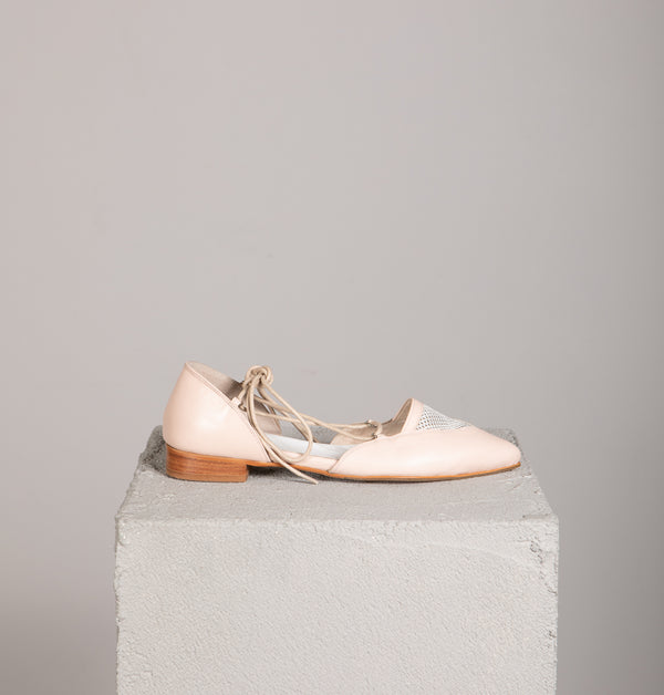 Toulouse Champagne Pointed-Toe Flats (4412211789860)
