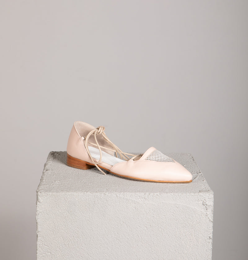 Toulouse Champagne Pointed-Toe Flats