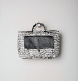 Zoe Croco Satchel Bag