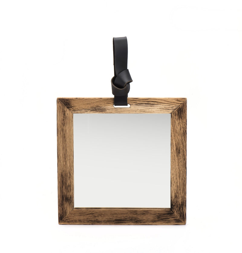 Small Wood Frame Mirror