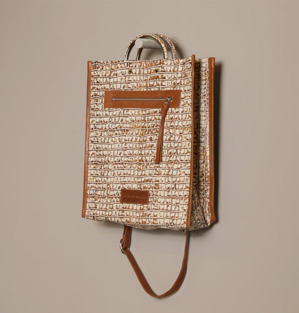 ZoeCrocoLargeToteBag_Brown