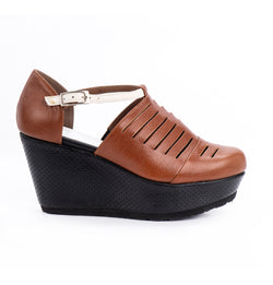 Madison Africa Closed Toe Wedge Sandals (4412252946468)