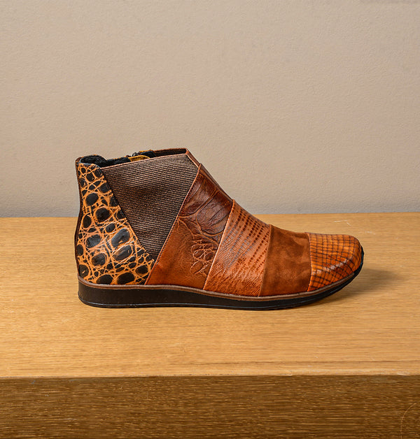 Rio Ankle Boots Brown Mix