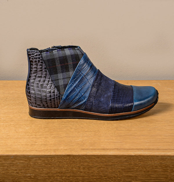 Rio Ankle Boots Blue mix