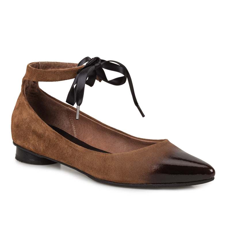 Toulouse Vega Lace Up Ballet Flats (4412211560484)