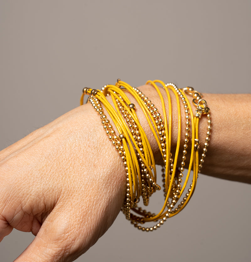 Leather&ChainBracelet_Yellow