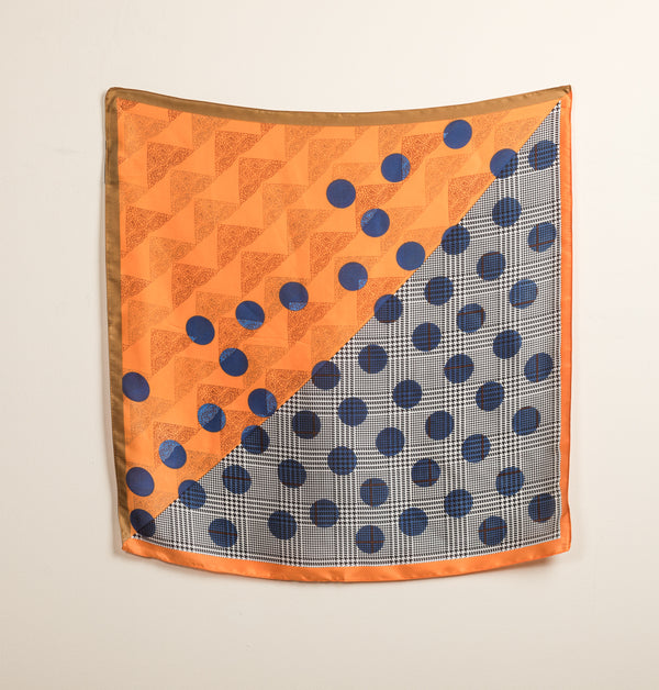 PolkaSmallScarf_Orange