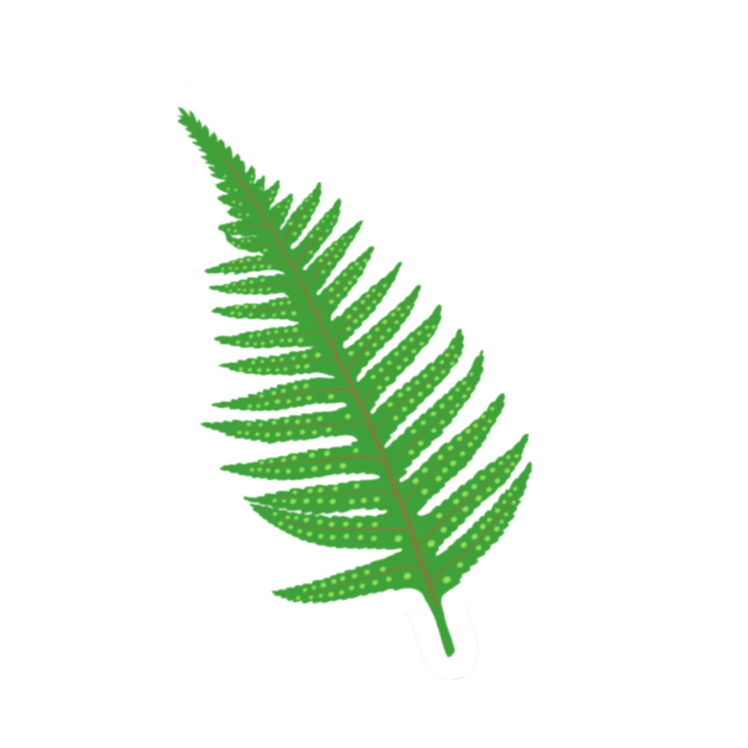 Fern Die Cut Sticker (3