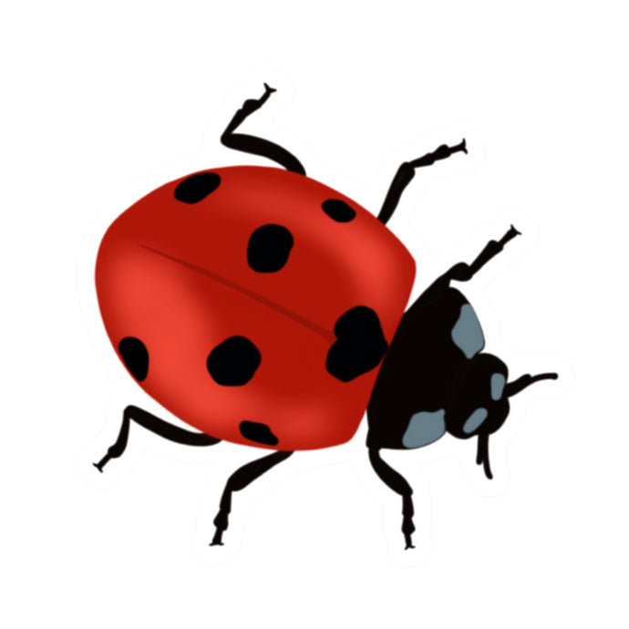 Red Ladybug Die Cut Sticker (3
