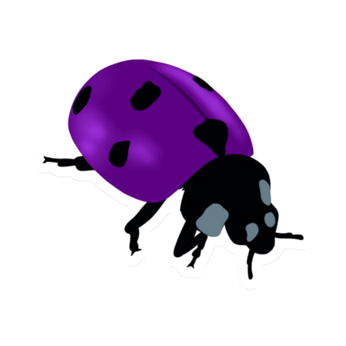 Purple Ladybug Die Cut Sticker (3
