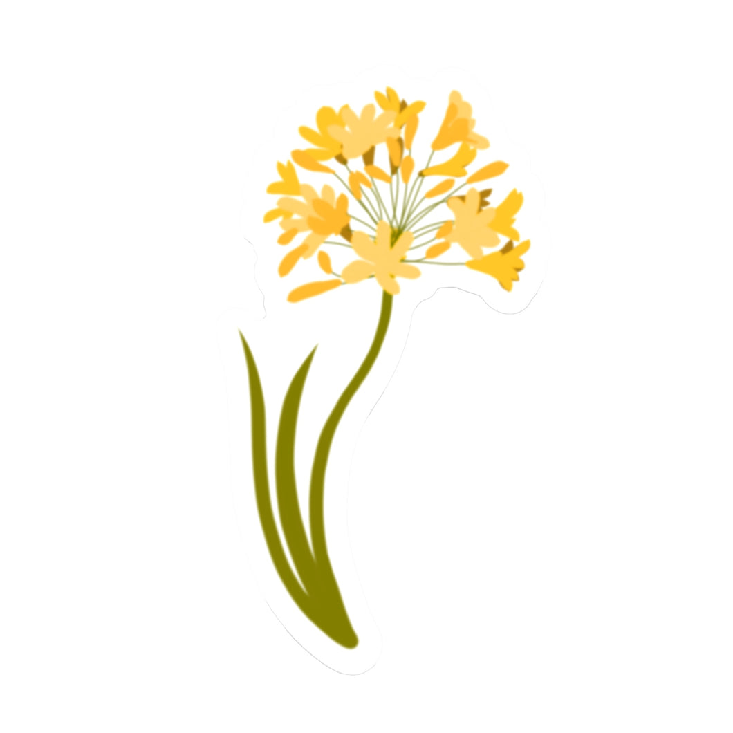 Yellow Allium Die Cut Sticker (3