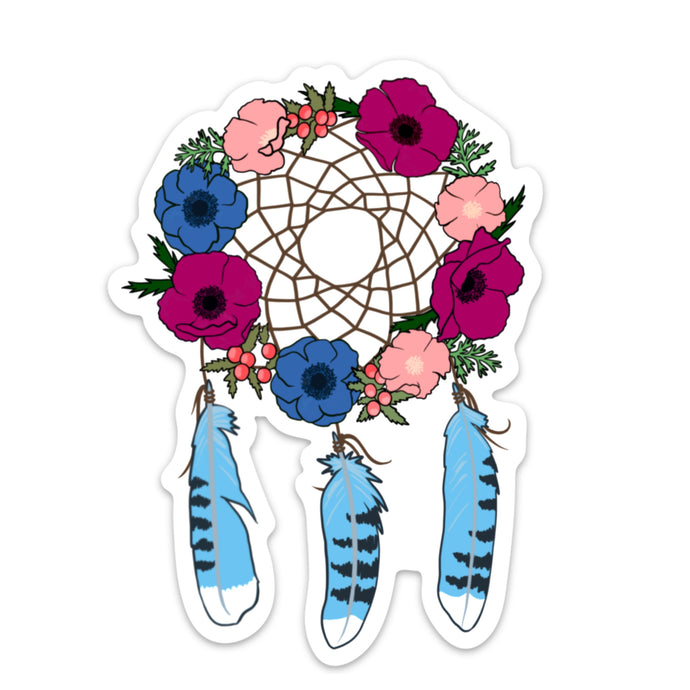 Floral Dreamcatcher Die Cut Sticker (5