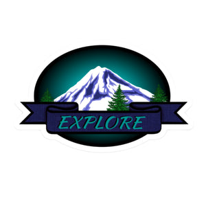 "EXPLORE Die Cut Sticker (4"")"