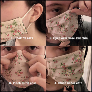 Cloth Masks with Adjustable Fit (Medium/Large)