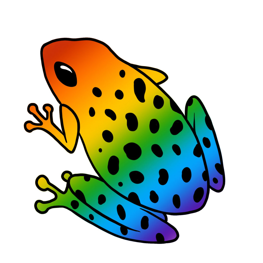 Frog Die Cut Sticker (4