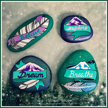Purple and Teal Inspiration Rocks