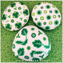 "Green and White ""Porcelain"" Rocks"